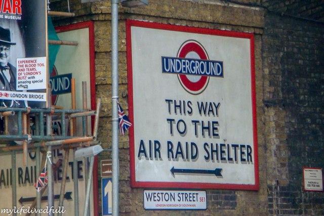 London air raid shelter