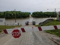 Gardiner Ferry crossing the Abitibi River