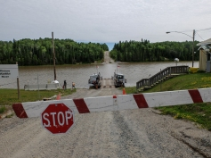Gardiner Ferry crossing the Abitibi River