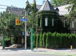 Heritage building near Allan Gardens