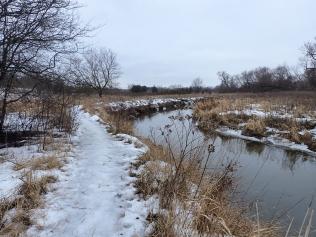 Slip slide -y trail walk