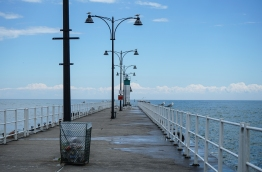 Oshawa Waterfront - the pier was closed due to the high water levels