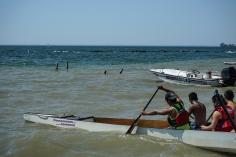 Dragonboat teams doing shore drills