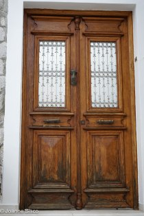 The hand knockers were a common feature on most doors.