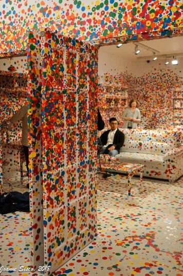 Yayoi Kusama Obliteration Room - Art Gallery on Ontario